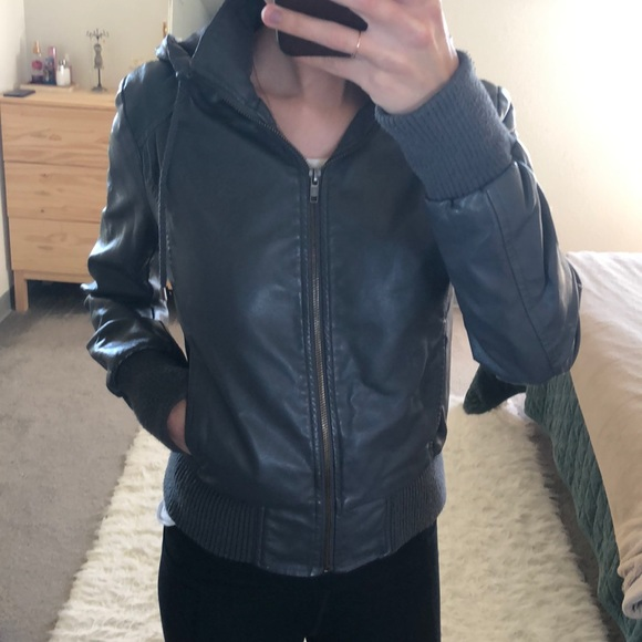 Forever 21 Jackets & Blazers - Faux Leather Bomber Jacket